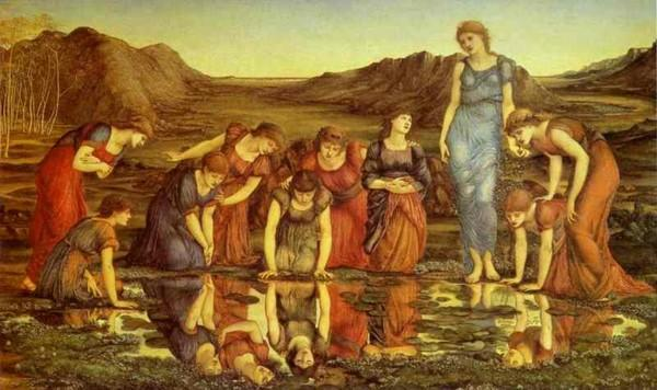 Sir Edward Burne-Jones. Le miroir de Venus.