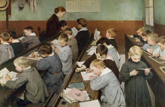 Henri Jules Jean Geoffroy. The Children's Class.