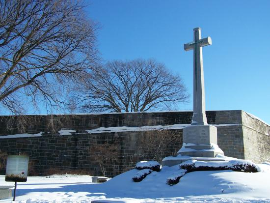 The Cross of Sacrifice, near the St-Louis Door in Quebec City.