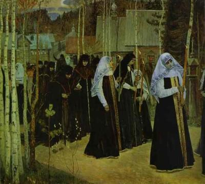 Mikhail Nesterov. Taking the Veil.